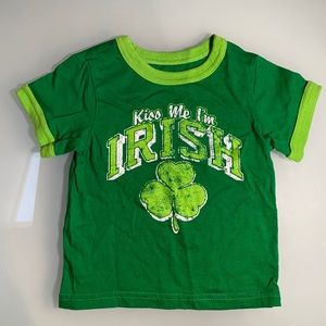 Kiss me I'm Irish kids t-shirt 18-24m